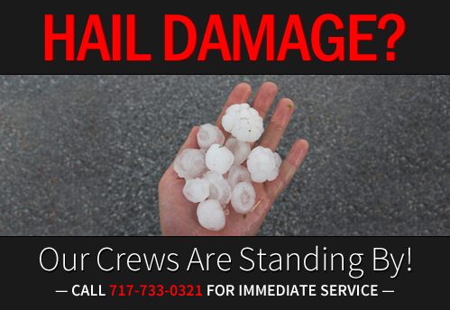 Hail Damage Roof Repair Company Lancaster PA